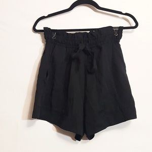 H&M | Conscious Black Paper Bag Style Shorts 6